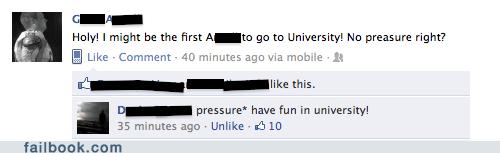 oops,spelling,university