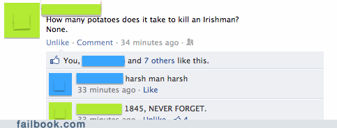 famine history irish joke never forget potato