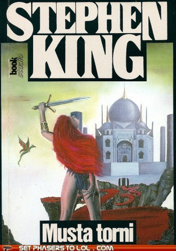 book covers books cover art fantasy finnish stephen king The Dark Tower wtf - 5503191552