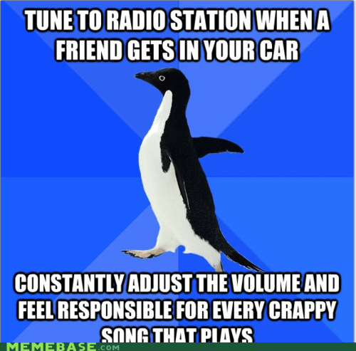 car,friend,justin bieber,radio,socially awkward penguin,song,volume