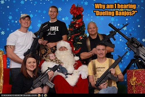 christmas guns holiday political pictures santa