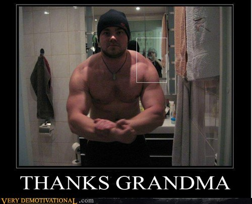 grandma,idiots,muscle,Photo,wtf