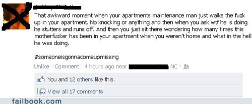 apartment,Awkward,creepy,maintenance,wtf