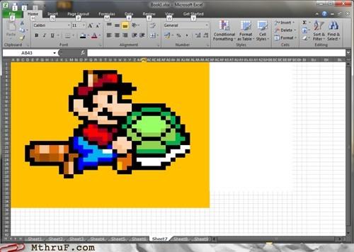 excel,itsa me mario,Super Mario bros