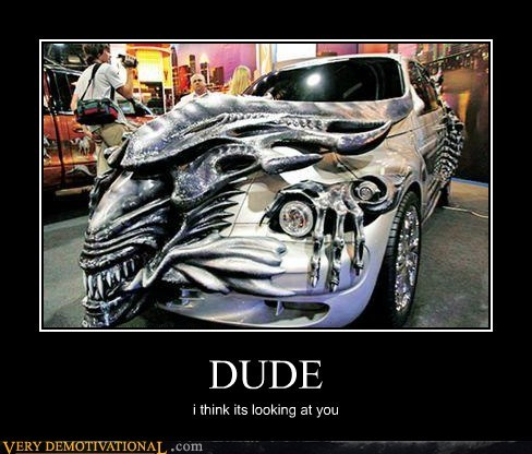 Aliens,car,dude,hilarious,wtf