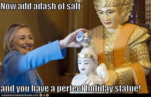 Hillary Clinton holiday political pictures