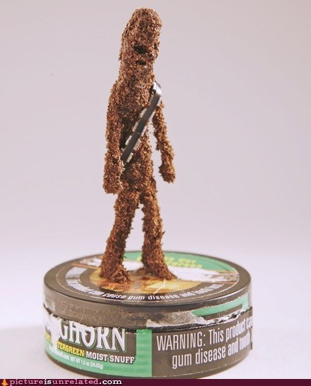 chew,chewbacca,star wars,tobacco,wtf