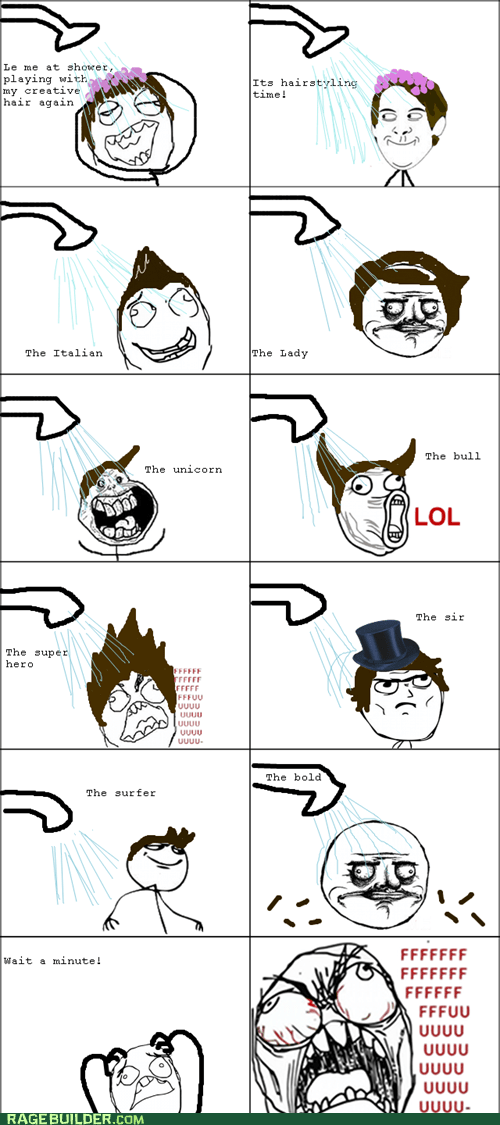 bald,hair,Rage Comics,shower