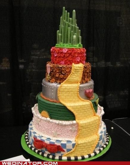 cakes emerald city funny wedding photos Hall of Fame the wizard of oz wedding cake - 5505228800