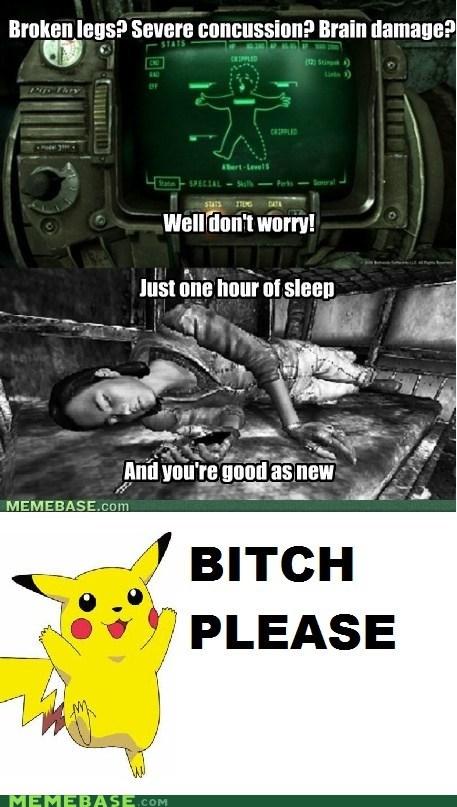 comic fallout healing pikachu pokemon center sleep - 5505388288