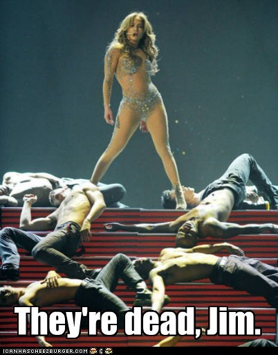 singers dancers jennifer lopez live music Star Trek theyre-dead-jim - 5505395456