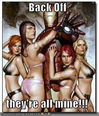 back off iron man Sexy Ladies Super-Lols - 5505484288