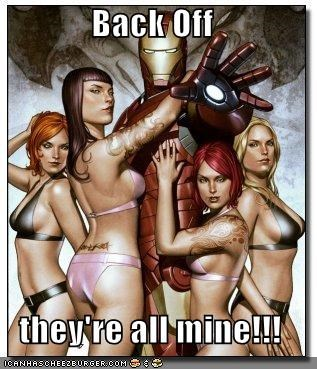 back off iron man Sexy Ladies Super-Lols - 5505484288