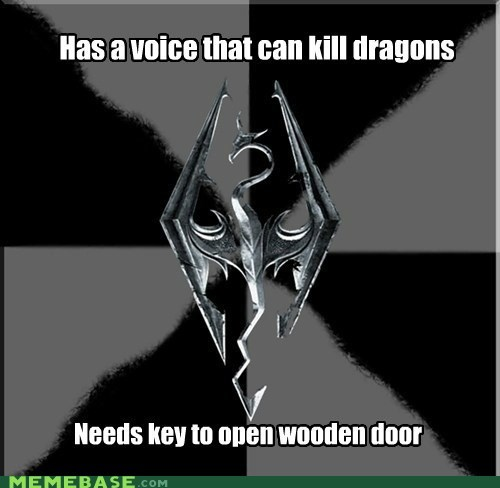 dragons key Memes Skyrim video games voice - 5505492992