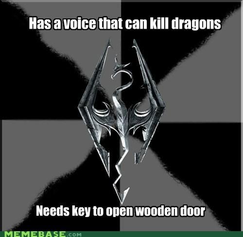 dragons key Memes Skyrim video games voice - 5505492992