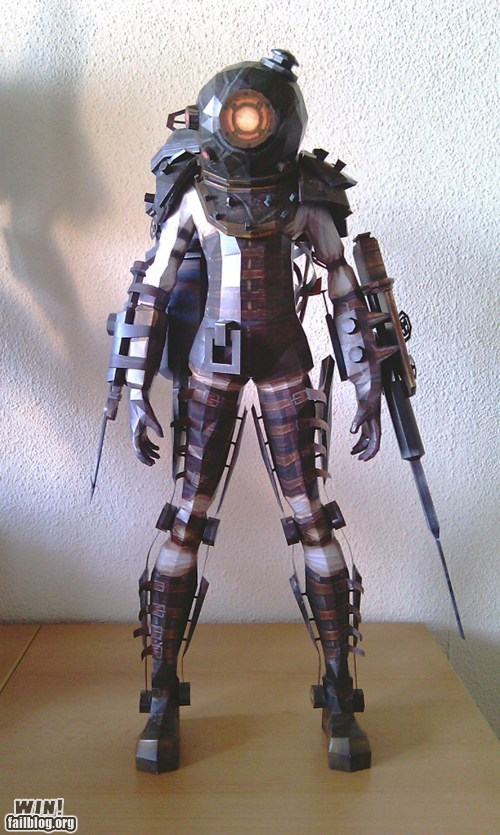 bioshock,model,nerdgasm,papercraft,video games