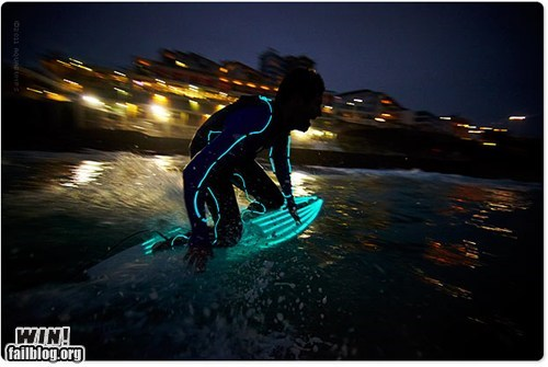 lights,modified,pretty colors,surfing,tron