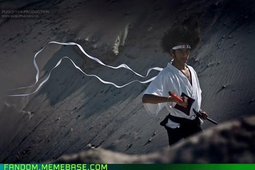 afro samurai anime cosplay manga - 5505569024