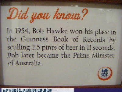 australia beer drinking government prime minister The More You Know TIL