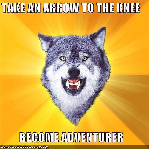 adventurer,arrow,Courage Wolf,knee,weak