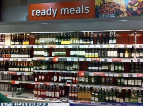 delicious,grocery store,liquor store,meal,nutritious,wine