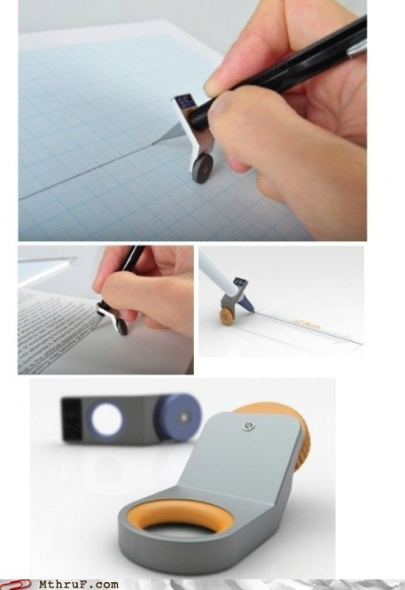 attachable office swag portable ruler