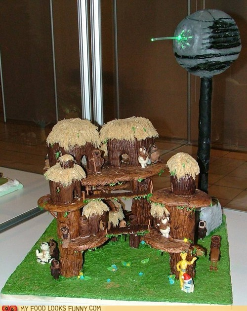 cake edible ewoks gingerbread star wars