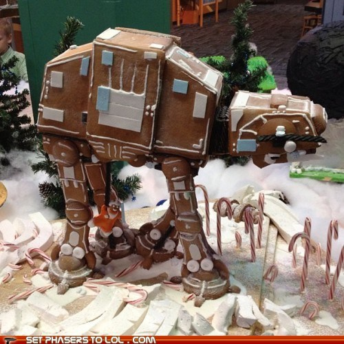 at at,christmas,gingerbread,holidays,luke skywalker,star wars