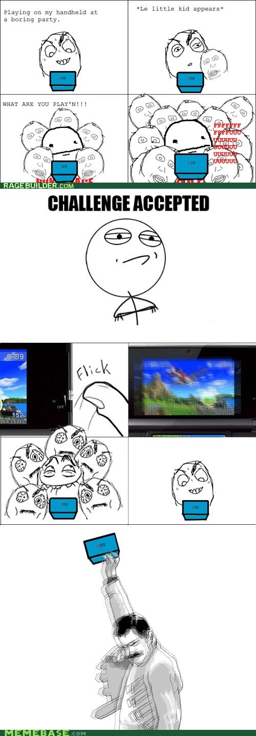 3DS,kids,Rage Comics,video games