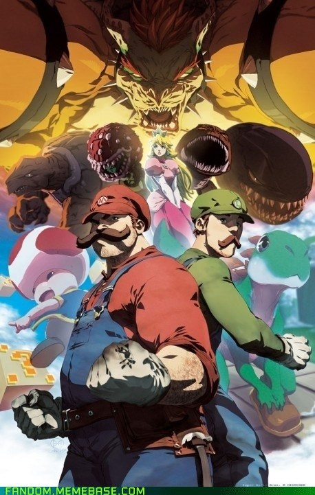 Fan Art luigi mario Super Mario bros video games - 5506072832
