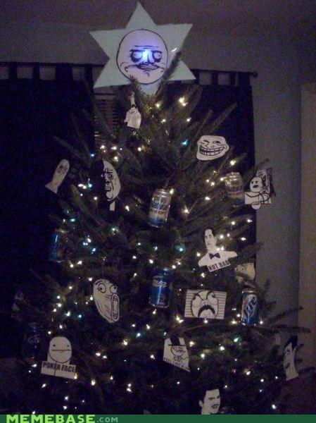 christmas me gusta rage faces tree - 5506095104