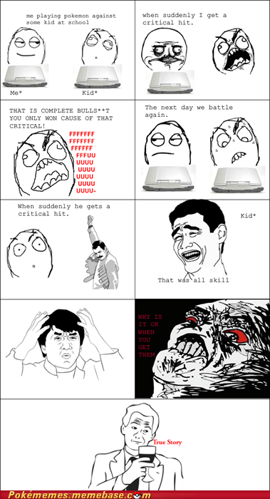 critical hit,luck,not fair,rage comic,Rage Comics,skill