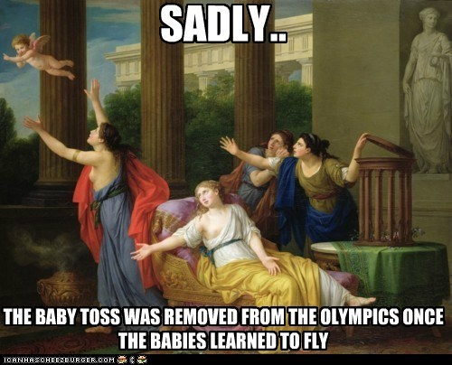 art,athletes,athletics,baby toss,historic lols,olympics,painting,sports