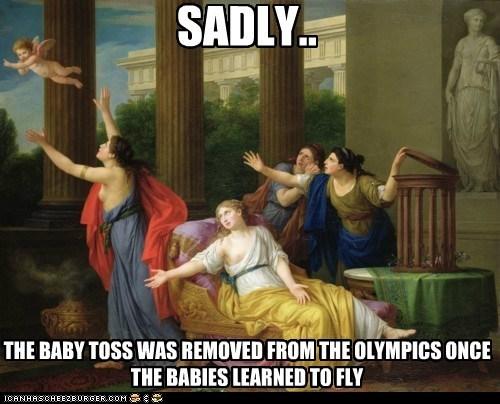 art athletes athletics baby toss historic lols olympics painting sports - 5507188224