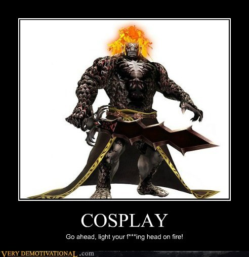 bad idea,cosplay,fire,head,hilarious
