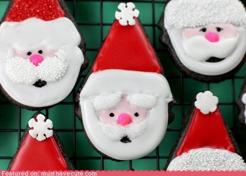brownies chocolate christmas cookies epicute icing santa - 5507585792
