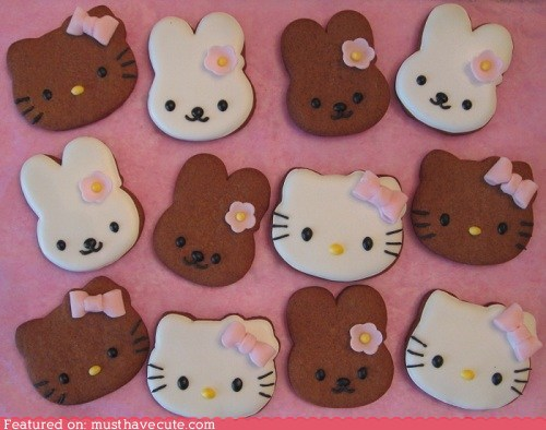 bow,cathy,cookies,epicute,gingerbread,hello kitty,icing,rabbit