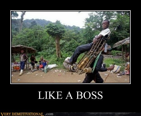 carried chair good idea Like a Boss Pure Awesome