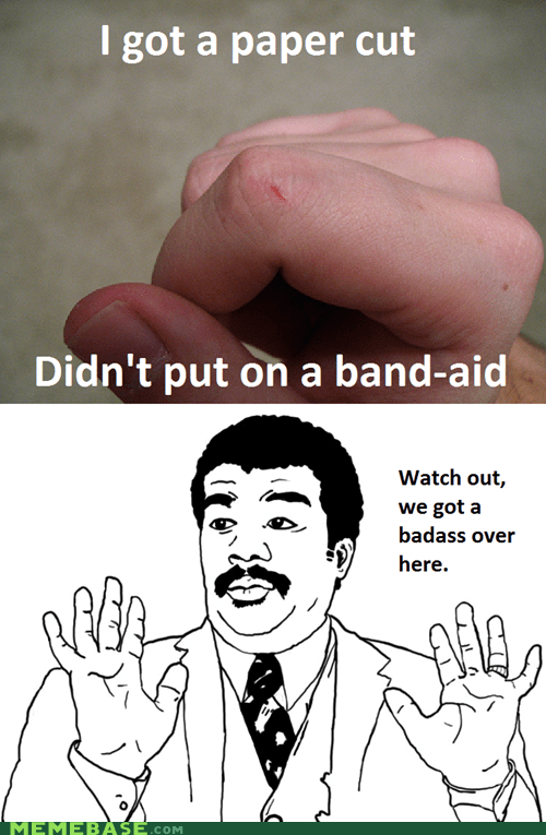 band aid Memes paper cut watch out guys - 5507745792