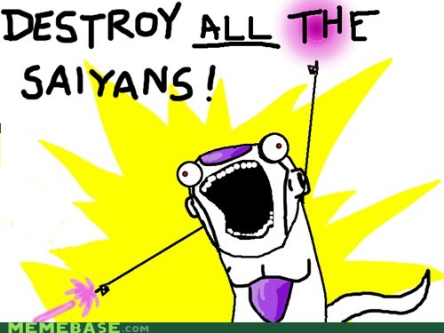 all the things,anime,destroy,dragonball z,obsession,saiyans