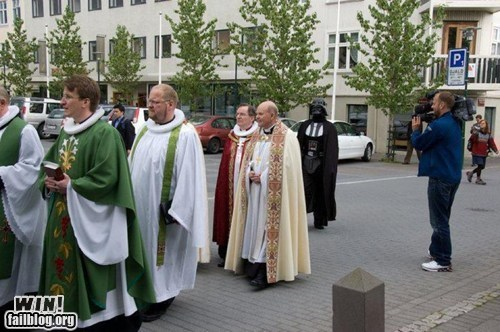 classic,darth vader,nerdgasm,procession,religion,star wars