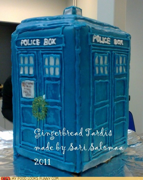 best of the week,doctor who,gingerbread,icing,tardis,TV
