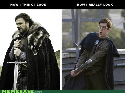 How People View Me,larping,totally looks like,Winter Is Coming