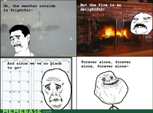 forever alone images let it snow Rage Comics weather - 5508494080