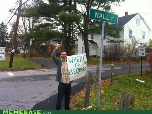 huh,Occupy Wall Street,Sad,Wall Street,where is
