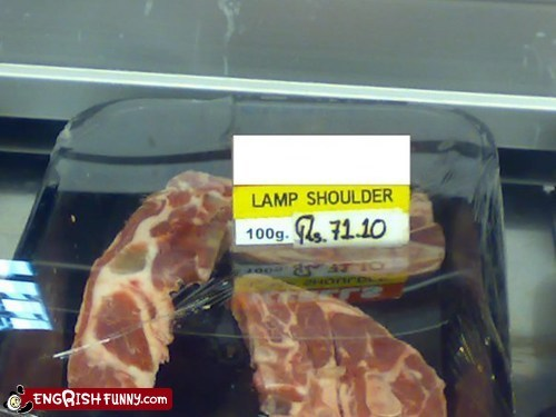 engrish funny,food,g rated,i love lamp,lamb,lamp shoulder,translation,typos