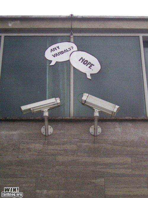 camera CCTV comic hacked irl security camera speech bubbles