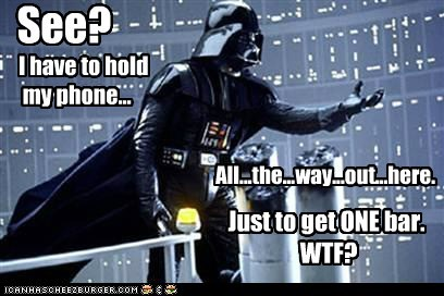 bars cell phone darth vader reception star wars wtf - 5508759040