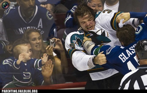 fight,hockey,inappropriate,Parenting Fail,sports,sports fan,toddler,violent