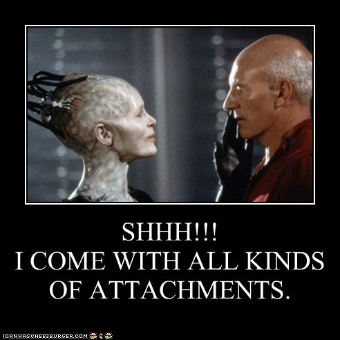 SHHH!!! I COME WITH ALL KINDS OF ATTACHMENTS.